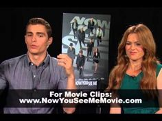 The Kiosk Presents: Isla Fisher and Dave Franco Interview-Now You See Me-- hm.. thinking I might want to see him next movie #townies Lol. Both of their next movies sound good.
