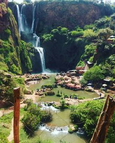 Ouzoud Waterfalls in the grand Atlas mountains in Morocco