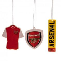 Official Licensed Football Product Arsenal 3 Pack Air Freshener Shirt Gift  New 8c47241e6