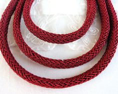Oval Braided Trim Cord Semisoft Cord Licorice Style Rope by vess65