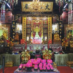 #interior view of Leong San Temple #chinese #buddhist #ornate #singapore #southeastasia #asia #travel