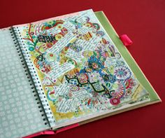 Put down masking tape before doodling and painting. Remove and then journal in the spaces.