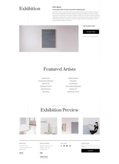 Art Gallery Landing Page Wordpress Theme, Page Design, Web Design, Library Icon, Art Niche, Glass Breaker, Gallery Website, Minimalist Design, Art Gallery