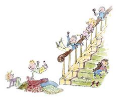 Quentin Blake - Sliding down the Bannister