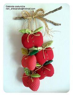 ♥♥ Pendurico maçãs♥♥