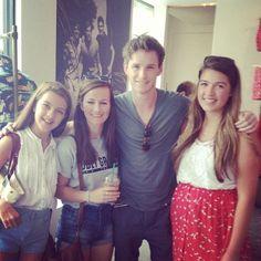 Eddie with fans 17 July 2013