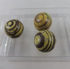 Carpet Bowls, Yellow Bowls, Yellow And Brown, Miniture Things, Rare Antique, Ruby Lane, 19th Century, Miniatures, Pottery