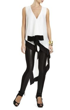 Cyprien V-Neck Color-Block Top | BCBG