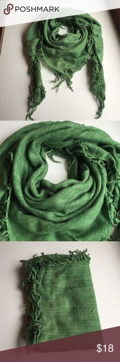 Abercrombie & Fitch green square scarf Abercrombie & Fitch green square silk/wool blend scarf - very soft feel - perfect condition, no snags never worn! Abercrombie & Fitch Accessories Scarves & Wraps