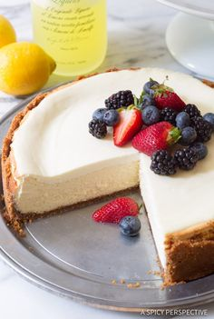 Best Limoncello Cheesecake with Biscoff Crust
