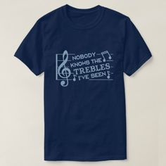 Funny Musicians Treble Joke Pun Music Teachers 2 T-shirt, Men's, Size: Adult L, Navy Blue Pun Shirts, Funny Tshirts, Music Jokes, Funny Music, Retro Pop, Retro Style, Vintage Style, Diy For Men, Tshirt Colors