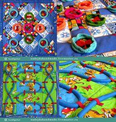fbb4bf70d13f Развивающие игрушки ручной работы. Ярмарка Мастеров - ручная работа  Массажный развивающий коврик -Трансформер. Handmade.