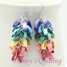 Paper Quilling Cluster Earrings - Honey's Quilling