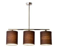 Lámpara De Techo 3 Luces Lia Marrón
