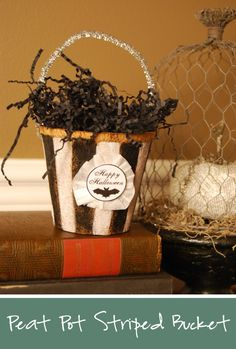 peat pot - paint - paper and so cute