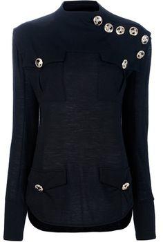 Balmain ~ Military Wool Sweater