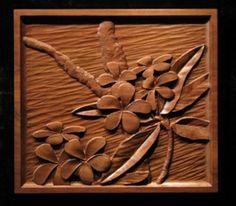 """Plumeria"" | Carved Panels"