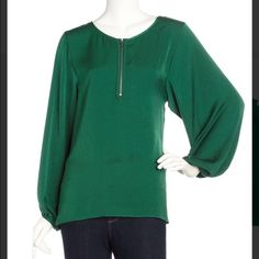 Laundry by Shelli Segal top Billow sleeve Forrest green top Laundry by Shelli Segal Tops Blouses