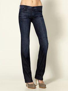 Dark Straight Leg Jeans ... wear w/ tunic style top and/or blazer