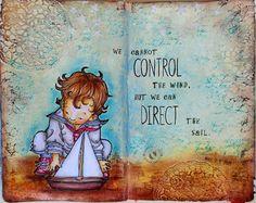 JIJI Cards - Art Journal Page 9: Little sailor #mosdigitalpencil