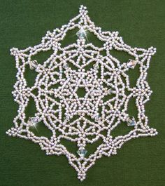 Large 4 inch wide snowflake ornament, PDF pattern download