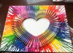 Melted Crayon Art Heart - Kids Kubby