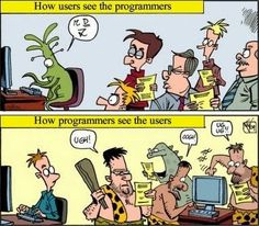 Programmers vs. Users [Comic]