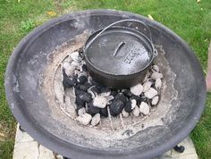 How to cook with your Cast Iron Dutch Oven while camping. This site gives everything from recipes to try over camp fires using charcoal. It even tells you how to figure out your cooking temperature using briquettes. Even talks about the best types of wood to use or not use. Damn this is cool!