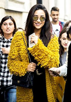 Shay Mitchell seen out and about on October 24, 2015 in Milan, Italy.