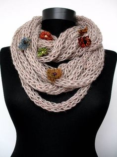 Hey, I found this really awesome Etsy listing at https://www.etsy.com/listing/510997614/scarf-necklace-flowers-infinity-scarf