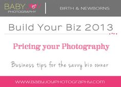 How to Price your Photography Biz {Build your Biz Monday} | Tacoma Newborn Photographer & Photography Biz Consultant