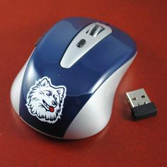 02271ee419c8 Connecticut Huskies USB Wireless Optical Mouse for Laptop   PC Computer