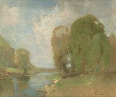 """""""Meadow Brook,"""" Emil Carlsen, 1905, oil on canvas, 19-5/8 x 23-1/2"""", private collection."""