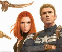 Captain America & Black Widow -Paolo Rivera