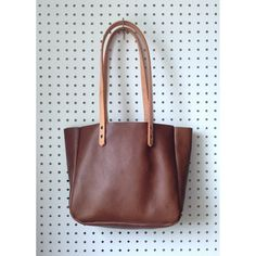 Pebbled Brown Leather Tote  Coffee Brown Leather by HattonHenry