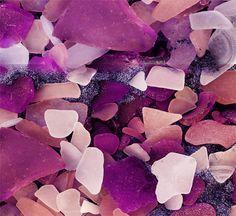 Purple sea glass