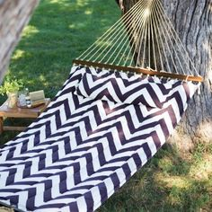 island bay 13ft chevron stripe quilted double hammock hammocks at hayneedle