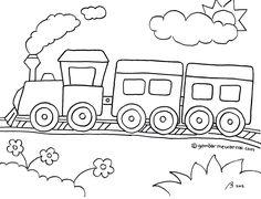 Gambar Mewarnai Kereta Api