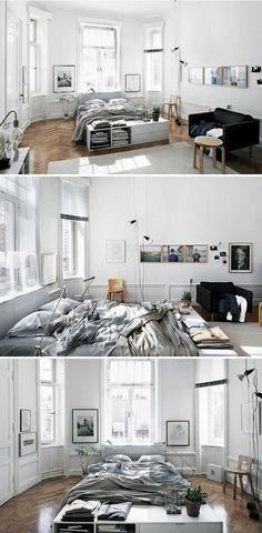 plan studio 20m2, déco studio étudiant, se meubler pas cher