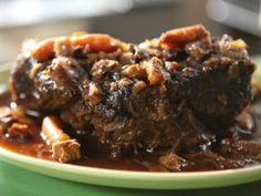 Pot Roast with Carrots, Shallots, Mint and Lemon : Recipes : Cooking Channel, Michael Symon Lemon Recipes, Crockpot Recipes, Fall Recipes, Dinner Recipes, Beef Dishes, Mediterranean Recipes, One Pot Meals, International Recipes, Other Recipes