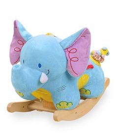 I love this Elijah the Elephant rocker from Rock-A-Bye, but I'm wondering if Keira, at 18 months now, would outgrow it too soon... Found on zulily.com