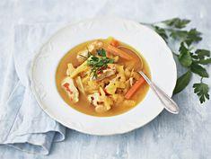 Mifu-juureskeitto   Valio Thai Red Curry, Vegetarian, Gluten, Ethnic Recipes, Food, Turmeric, Essen, Meals, Yemek