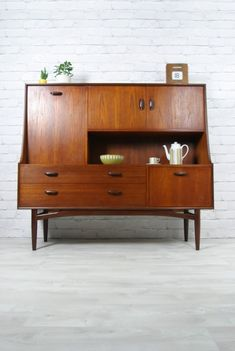 Vintage G-plan teak midcentury highboard.