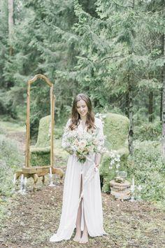 bridal morning in forest утро невесты в лесу