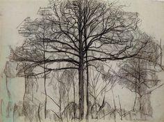 Mondrian, Study of trees