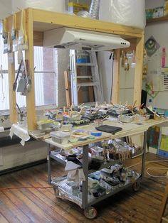 Encaustic art - Exhaust system for studio