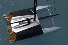 Un concept de catamaran à voile inspiré du superyacht à moteur