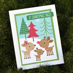 Here Comes Santa Claus - Doodlebug Christmas Cards - with video tutorial