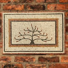 This marble mosaic was made to celebrate a special birthday. It was custom made for an 80th birthday - each bud represents a grandchild. Commissions welcome. Wood Mosaic, Marble Mosaic, Mosaic Art, 80th Birthday, Special Birthday, Tree Of Life, Contemporary, Modern, Bud