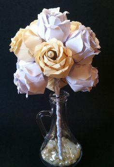 Instead of flowers? Dozen Paper Roses David Angelo inspired by DanasPaperFlowers